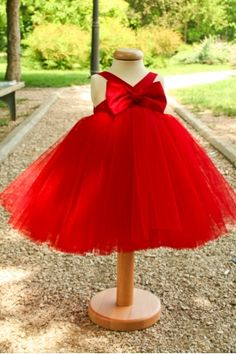 """""""Happy"""" is a joyfull dress, with a tutu skirt, made of tulle and soft silk, in a vivid and catchy color. This dress is part of the """"Ballerina and The Funky Boy"""" Collection. Red Flower Girl Dresses, Red Summer Dresses, Flower Girl Tutu, Warm Dresses, Girls Dresses, Red Tutu, Dress With Bow, Traditional Outfits, Baby Dress"""