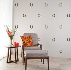 Guaranteed to bring you luck, these adhesive wall decals are perfect for your ranch home out in the country (or your apartment which you wish was a ranch out in the country). You choose the color that