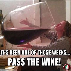 It doesn't really matter what day of the week it is, wine always sounds like a good idea to me. Whether you like a glass of wine with dinner or an entire bottle during a girls night in, you'll love these funny wine memes. Vin Meme, Wine Drinks, Alcoholic Drinks, Beverages, Cocktails, Wine Jokes, Wine Funnies, Funny Wine, Stress Humor