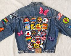 Patched Denim / Reworked Vintage Acid Wash by KodChaPhornJacket465
