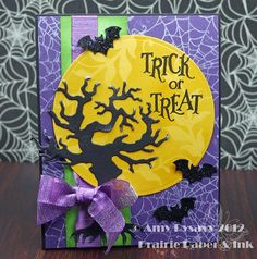 Card #7 from my 2012 Halloween Card Series by AmyR of Prairie Paper & Ink
