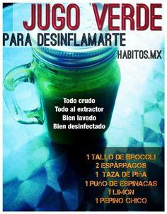 Jugo verde para desinflamar by habitos.mx