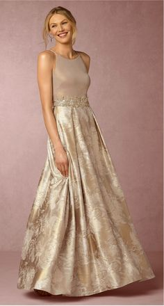 Champagne mother-of-the-bride dress | Lizbeth Dress from BHLDN