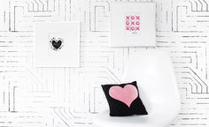 Love day is just around the corner, and Trendy Peas is sharing two free printable art prints that will add some color to your decor. Free Printable Art, Free Printables, Childrens Room, Modern Nursery Decor, Nursery Ideas, Free Art Prints, Diy Hanging, Project Nursery, Nursery Inspiration