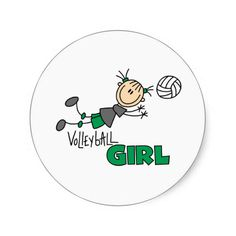 Volleyball Girl Stickers