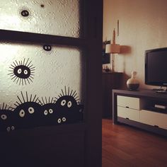 mrsbehrudy:  estelio:  I might have the cutest soot spirit infestation ever. #ghibli  ohhhh I'm doing this to my house <3