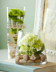 Rocks and floral for the perfect earthy look!   #weddingflowers #diywedding #budgetwedding