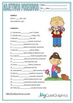 Practicar los adjetivos posesivos. - Trabajos ELE