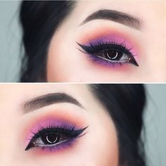 Pink and purple eyes
