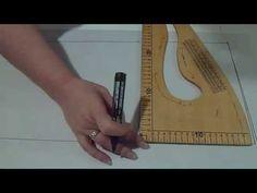 Como Hacer El Trazo Del Pantalon Ancho. DIY How To Pattern The Elephant Leg Pants. - YouTube
