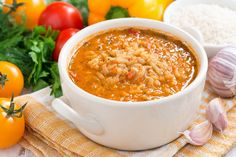 baby food recipe - Tomato and Rice Soup health benefits, ingredients, cooking method and preparation Paella, Risotto, Toddler Meals, Toddler Recipes, Rice Soup, C'est Bon, Baby Food Recipes, Spaghetti, Cooking