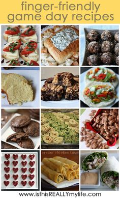 Super bowl recipes (finger foods) ...yummy!