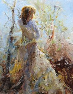 """""""Sunlit Beauty"""" by Scott Mattlin Oil ~ 10"""" x 8"""""""