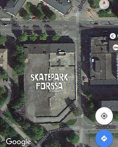 Entinen Sokos ja sen kattoparkkipaikka = #forssa #skatepark Siitä se ajatus sitten lähti! #t #fb #rullalauta #rullalautailu