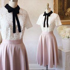 Look du jour  #boutique1861 Jupe Isara exclusivité 1861 Top Sothida