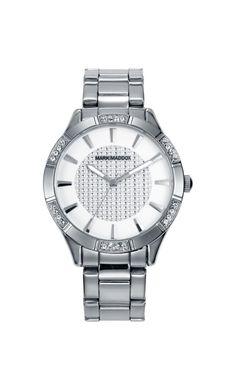 Que les parece este delicado y sensual Mark Maddox???    Reloj tres agujas brazalete, bisel y esfera con incrustaciones y cierre desplegable. Cristal mineral e impermeable 30 m (3 ATM).