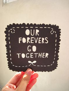 Forever and always! <3                                                                                                                                                         Picture by stealinghearts@Flickr