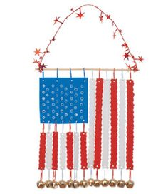 Musical Stars and Stripes-Craft foam and bells.