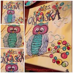 A personal favorite from my Etsy shop https://www.etsy.com/listing/249046293/owl-art-personalized-wall-art