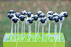 Shaun the sheep cake pops