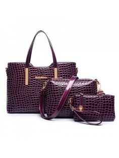 This summer wearing crocodile leather bags