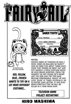 Frosch. He's one of my favorite exceeds! I don't want him to die! Rogue is going to be so upset...