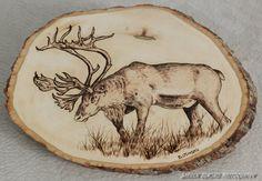 Woodburning of Caribou