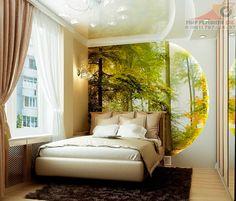 Красивый ремонт в спальне.