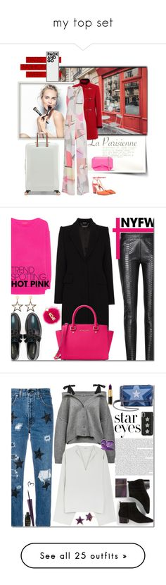 """""""my top set"""" by ozlem-ozcanb ❤ liked on Polyvore featuring Sephora Collection, Kenzo, Ted Baker, Jimmy Choo, Givenchy, parisfashionweek, Packandgo, Jadicted, Alexander McQueen and Max&Co."""