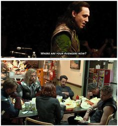 The Avengers / Loki // this is so funny! The Avengers, Jeremy Renner, Mark Ruffalo, Dc Movies, Marvel Movies, Marvel Actors, Joss Whedon, Chris Hemsworth, Chris Evans