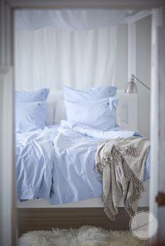 min drömmars säng, älskar sänghimlen och alla ljusa tyger