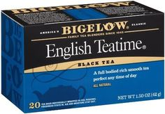 Bigelow English Teatime Tea 20Count Boxes Pack of 6 by Bigelow Tea *** Read more reviews of the product by visiting the link on the image. (This is an affiliate link and I receive a commission for the sales)