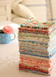I love to look at stacked fabric! Makes me happy inside! Quilting Tips, Quilting Tutorials, Quilting Projects, Sewing Tutorials, Sewing Projects, Quilting Fabric, Sewing Ideas, Sewing Hacks, Sewing Crafts
