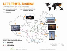 Fourth Grade Geography Worksheets: Chinese Landmarks