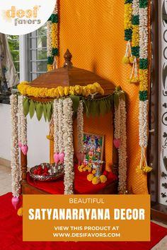 Door Flower Decoration, Home Flower Decor, Mandir Decoration, Ganpati Decoration At Home, Flower Decorations, Welcome Home Decorations, Diwali Decorations At Home, Backdrop Decorations, Diy Party Decorations