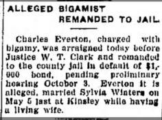 The Hutchison News (Hutchison, Kansas 30 September 1927  Charles Everton remanded to Jail.