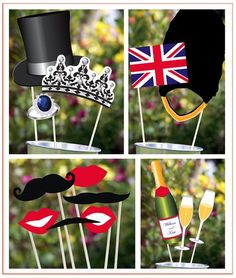 Here's a complete rounup of all the Royal Wedding printables out there for your viewing parties. London Theme Parties, British Themed Parties, Royal Tea Parties, London Party, Royal Party, British Party, British Wedding, British Pub, Queens Birthday Party