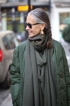 Hermes scarf and cashmere poncho