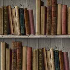 Boekenkast Wallpaper bibliotheek boeken Retro klassieke Vintage ...