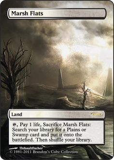 Magic The Gathering Marsh Flats Proxy