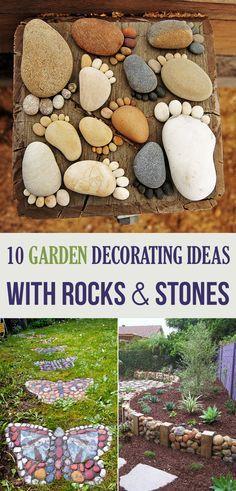 10 Have udsmykning ideer med klipper og sten