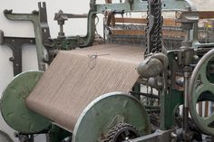 British yarn on loom at the one-man-mill of north-east London.