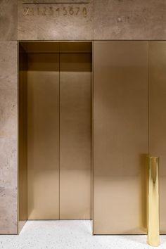 CVET 32 | Tsimailo Lyashenko & Partners (TLP) on Behance Lobby Interior, Luxury Interior, Interior Architecture, Interior Design, Lift Design, Design Firms, Elevator Design, Lobby Furniture, Mawa Design