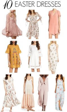 10 cute Easter dresses | what to wear on Easter | Easter fashion | Easter style | Easter outfit ideas | spring dresses | spring fashion | spring outfit ideas | spring style tips | warm weather fashion || Katie Did What