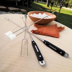 Set of Four Fire Pit Roasting Tools Frontgate $150