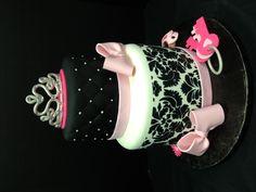 Damask and Diva Baby Shower Cake