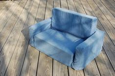 When she's old enough to want mini furniture! DIY foam couch!
