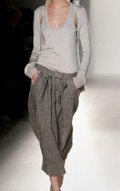 Calvin Klein salwar in tweed harem pants shalvar