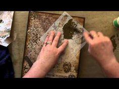 Tim Holtz Wallflower Configurations Book Part 1 - YouTube