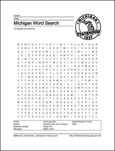 michigan great lakes coloring pages - photo#40